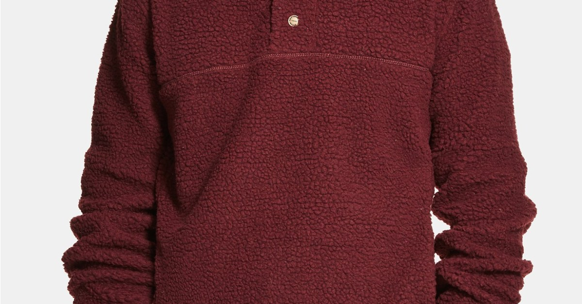 Weatherproof Vintage men's 1/2 button mock snap sweater for $11