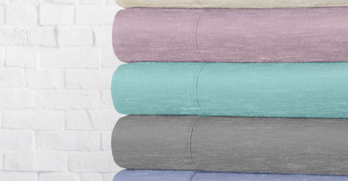Today only: Ella Jayne 4-piece jersey knit cotton blend sheet sets from $27 shipped