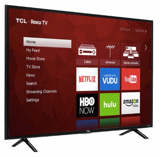 TCL 43″ class 4K Ultra HD Roku TV for $200