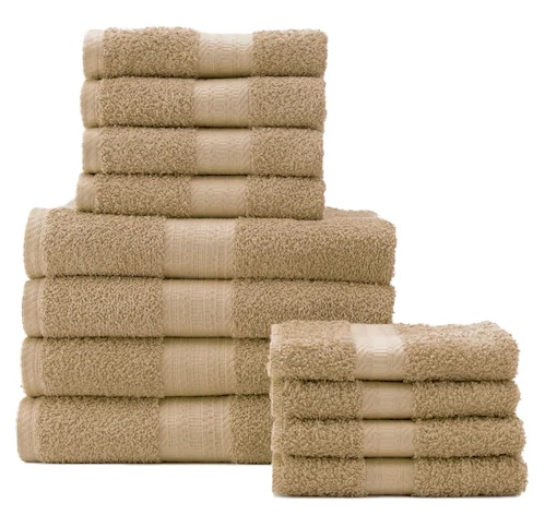The Big One 12-piece bath towel set for $30