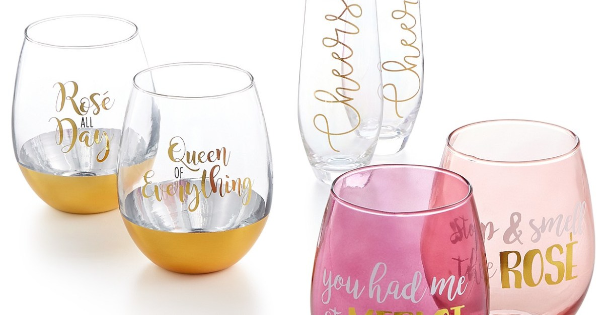 2-piece glassware sets under $4, free store pickup