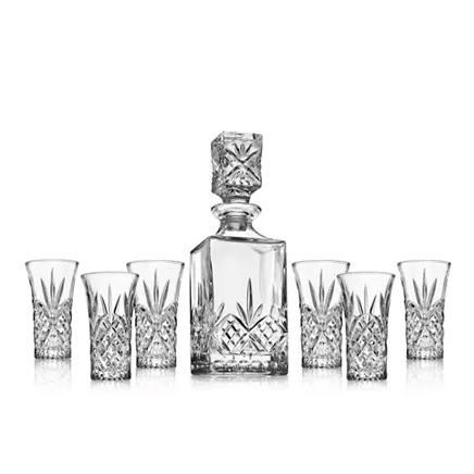 Godinger Dublin 7-piece decanter set for $16