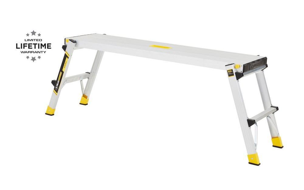Gorilla Ladders aluminum slim-fold work platform ladder for $25