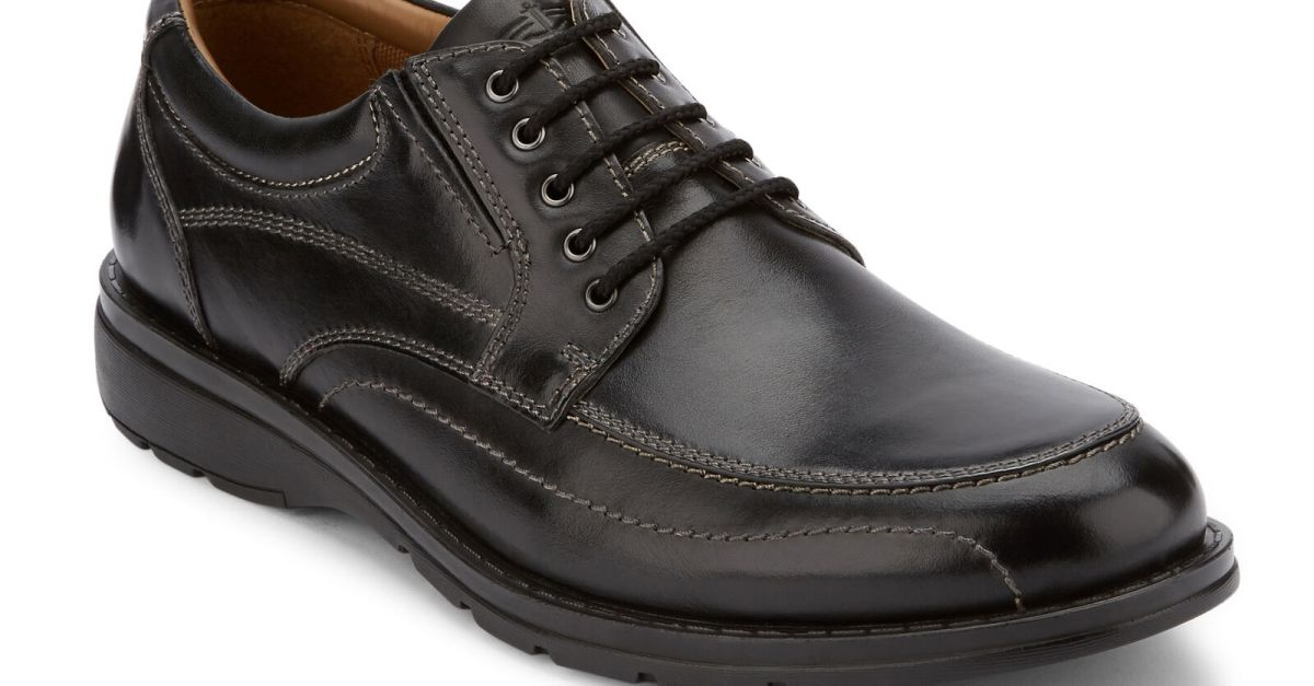 Dockers men's Barker genuine leather lace-up Oxford shoes for $30, free shipping