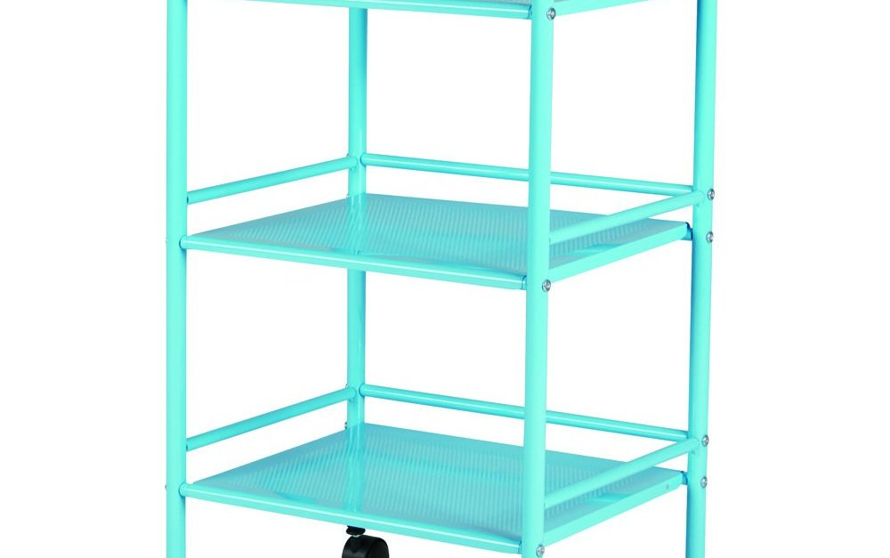 3-shelf rolling cart for $9, free store pickup