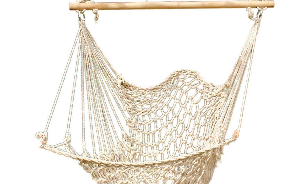 Hammock cotton hanging rope chair for $16.50, free shipping