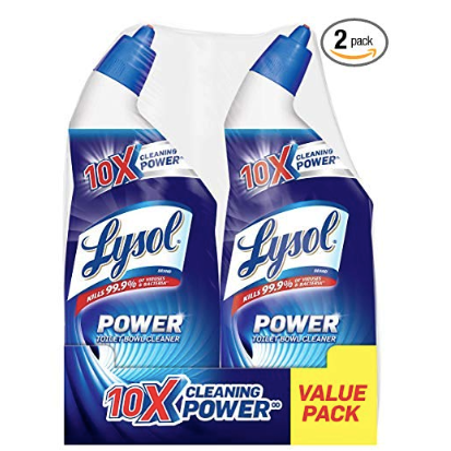 2-pack Lysol toilet bowl cleaner for $4