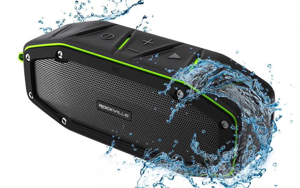 Rockville 20W rugged portable waterproof Bluetooth speaker for $30