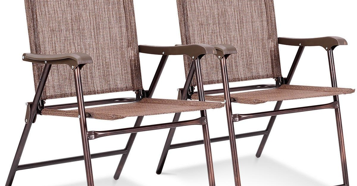 2-pack set of folding chairs for $40, free shipping