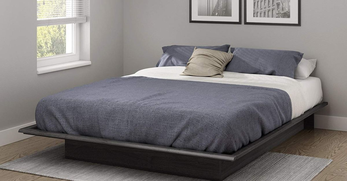 South Shore Basics queen platform bed for $130
