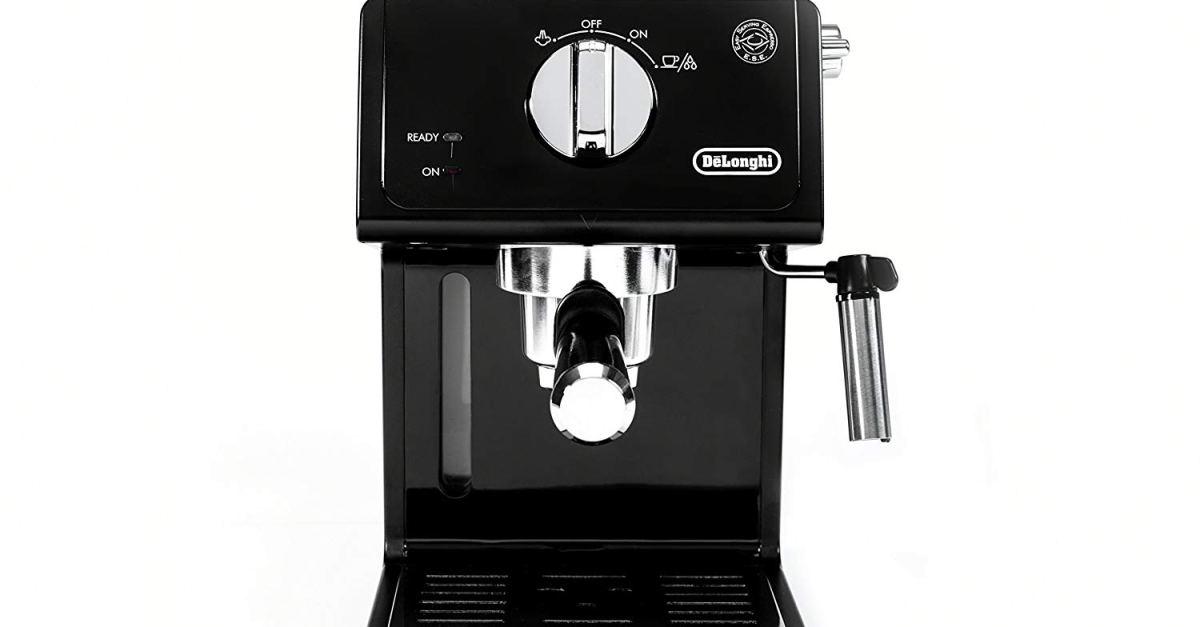 De'Longhi 15 bar espresso machine with advanced cappuccino system for $64