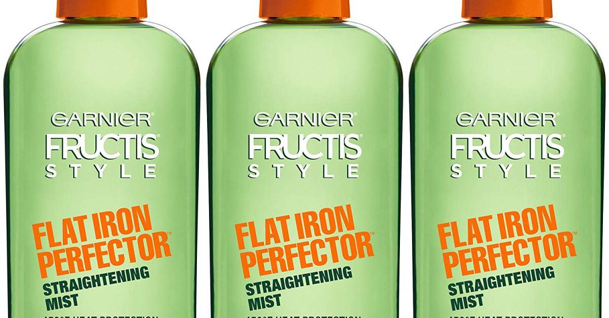 3-pack Garnier Frutis Style Flat Iron Perfector straightening mist for $7