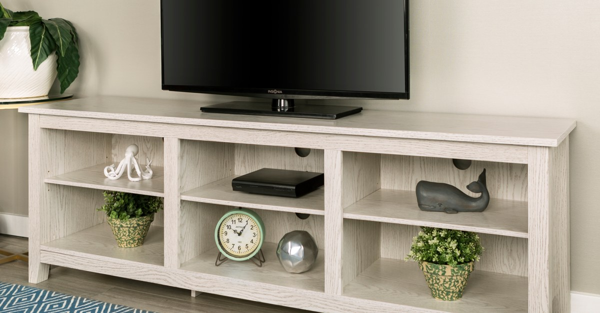 70″ wood TV media storage stand for $140, free shipping