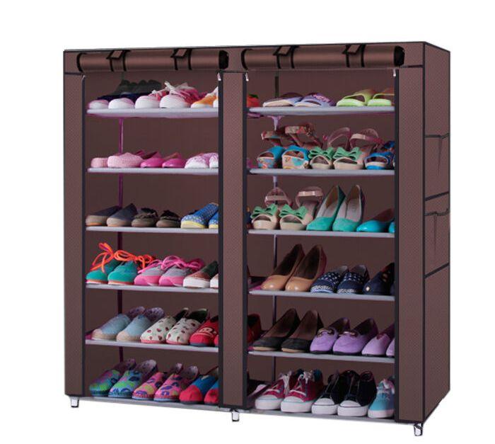 6-tier shoe shelf closet organizer with cover for $15