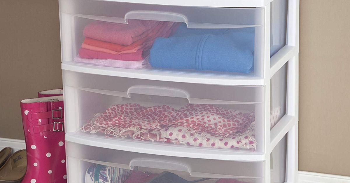Sterilite 3-drawer wide cart for $15