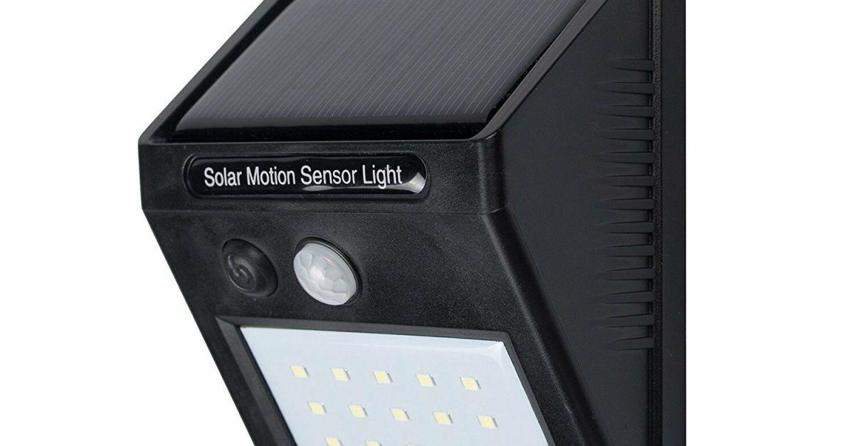 Century Solar 20 LED waterproof motion sensor outdoor light for $6, free shipping