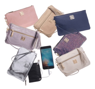 Today only: Liz Claiborne charging wristlet with RFID protection, 2 for $24