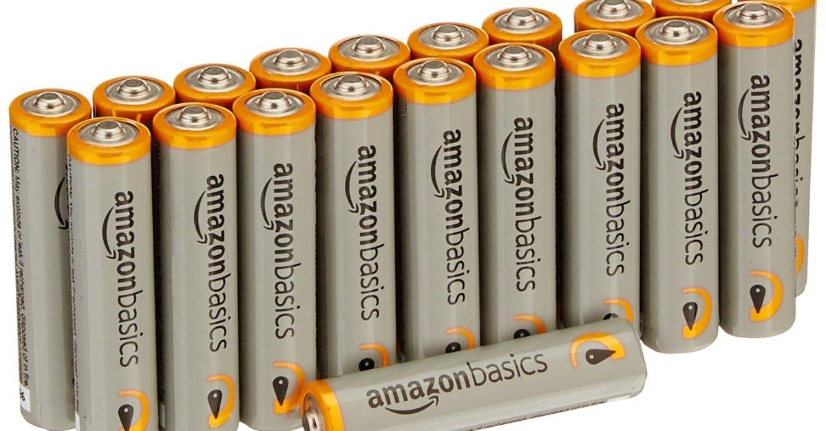 20-pack AAA AmazonBasics batteries for $5