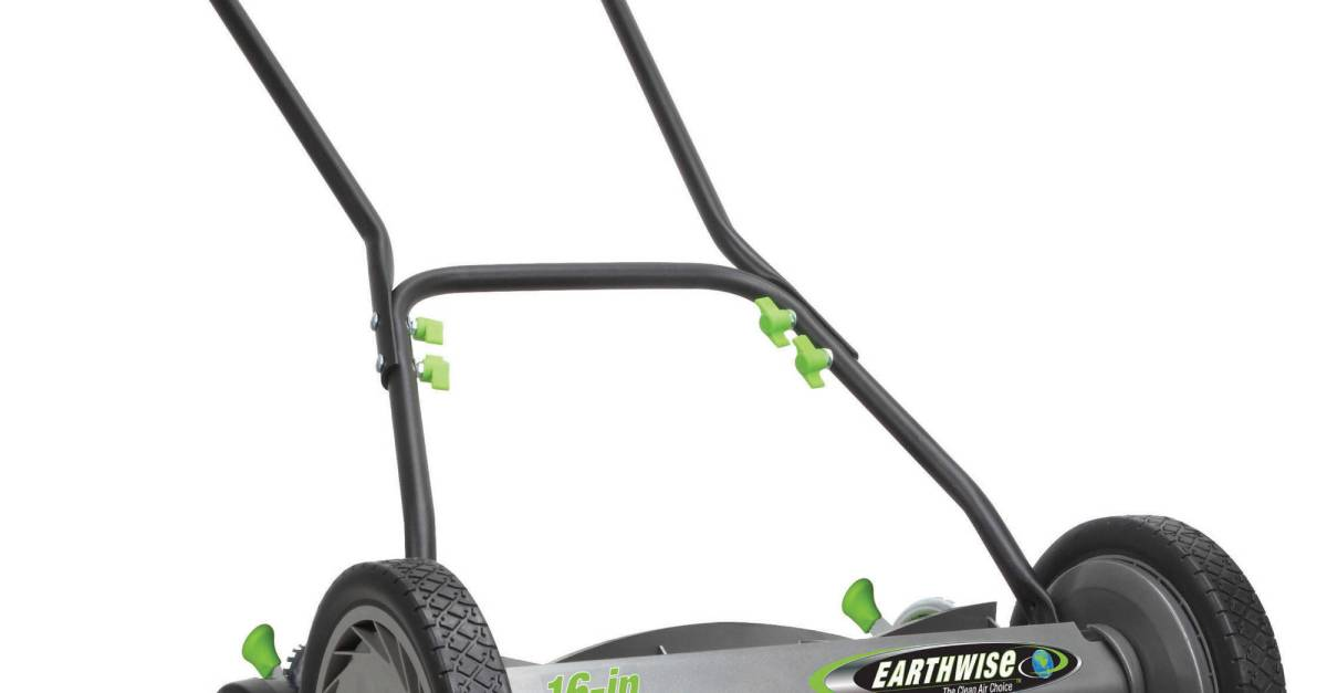 Today only: Earthwise reel lawn mowers from $75