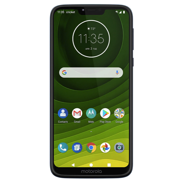Moto G7 32GB Supra + 30-day Cricket Wireless prepaid unlimited plan for $55