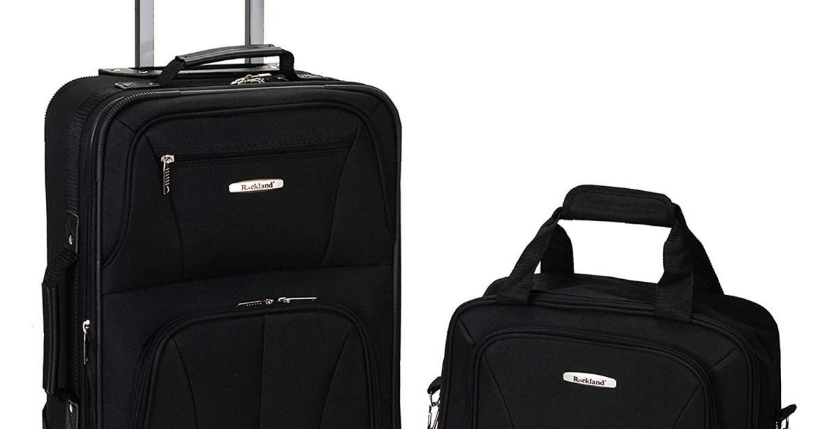 Rockland 2-piece polyester luggage set from $30