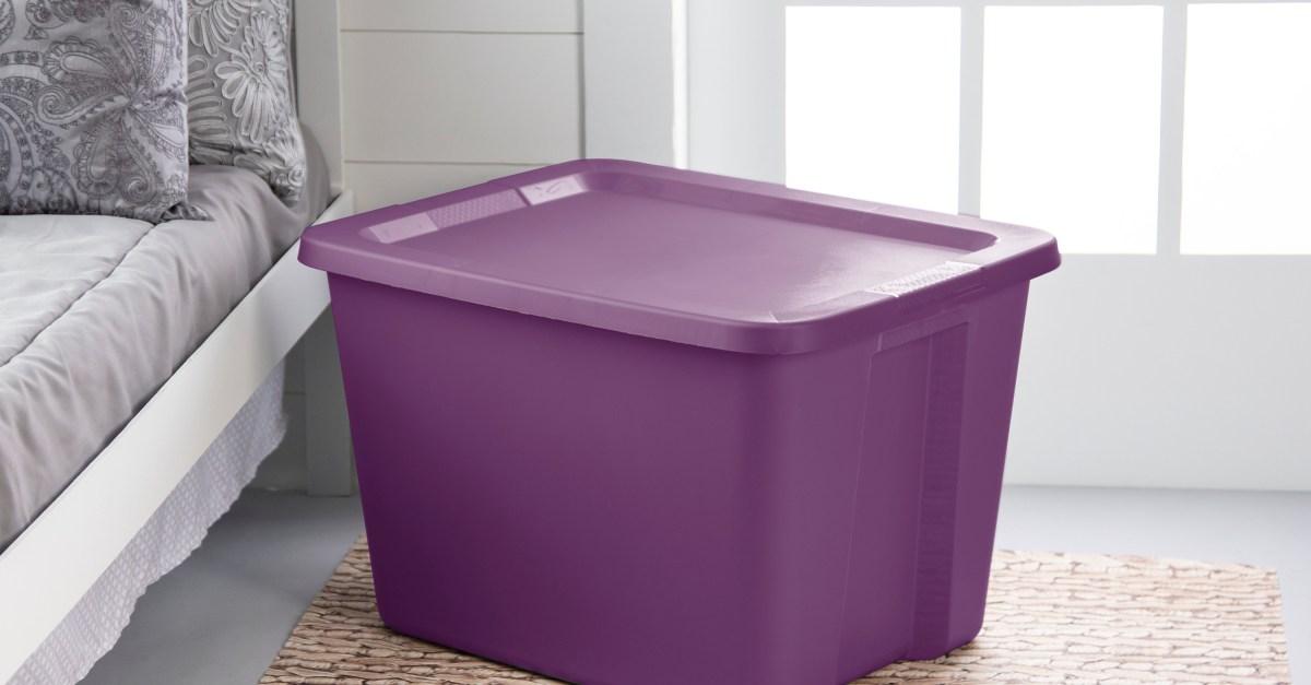 In-store: Sterilite 18-gallon storage tote from $1.50