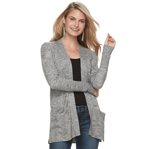 Women's Sonoma Goods for Life ribbed cardigan for $8, free store pickup