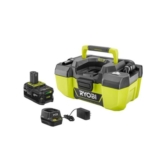 Ryobi 18-volt One+ Lithium-Ion cordless 3-gal project vac with battery for $99