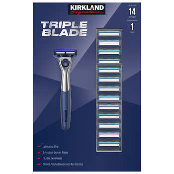 Ends soon! 14-count Kirkland Signature triple blade razors from $15