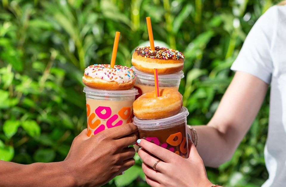 Get a FREE donut with drink purchase on Fridays at Dunkin' Donuts
