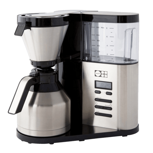 Motif Elements pour-over style coffee brewer with thermal carafe for $69
