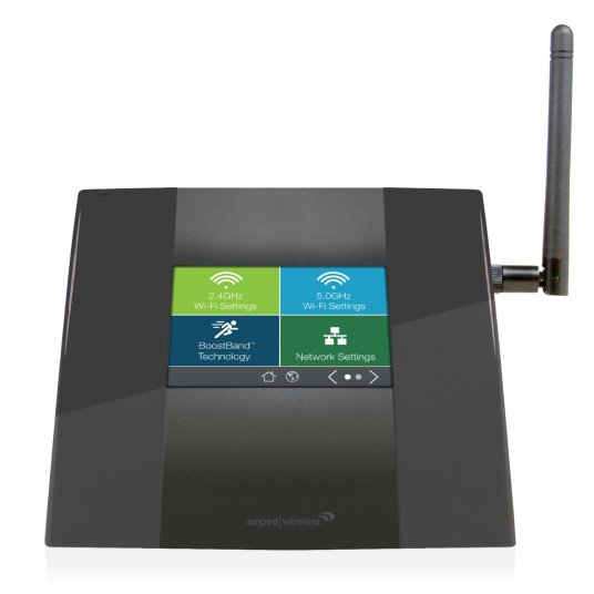 Amped Wireless high power touch screen Wi-Fi range extender for $25