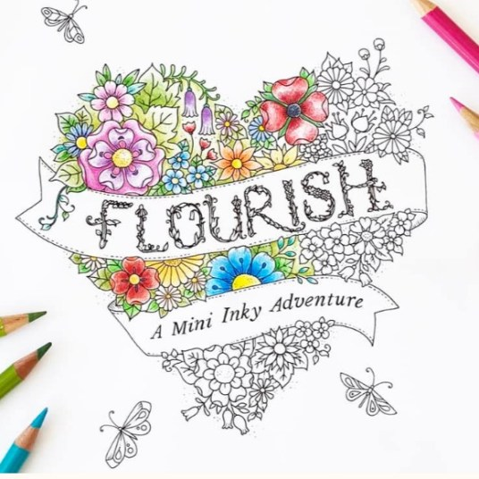 FREE 12-page printable coloring book by Johanna Basford