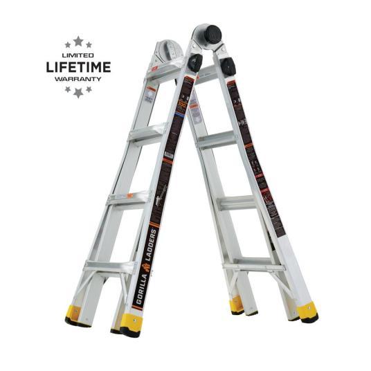 Gorilla Ladders 18-ft. reach multi-position ladder for $99