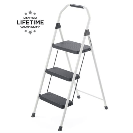 Gorilla Ladders 3-step compact steel step stool for $10