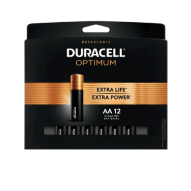 12-pack Duracell Optimum AAA or AA batteries for FREE after rewards