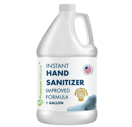 Hand sanitizer with aloe vera made in the USA from $.39 per ounce