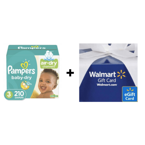 Get a $20 Walmart gift card with Pampers bundle
