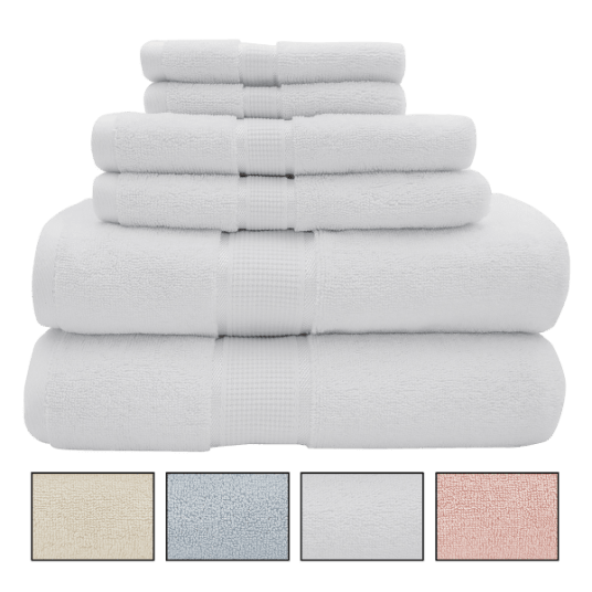 Today only: 6-piece premium combed cotton 600 GSM towel sets for $30 shipped