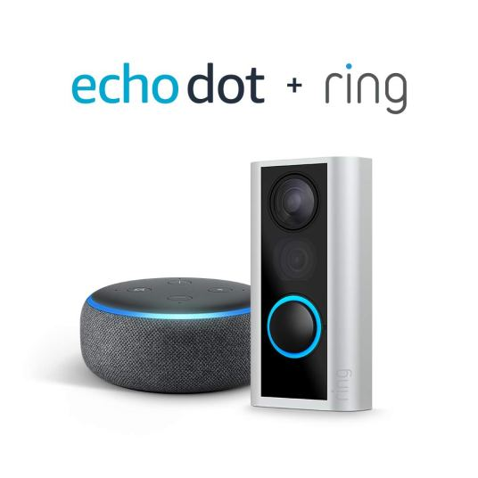 Ring Peephole Cam + Echo Dot (3rd Gen) for $80