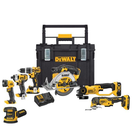 7-tool DEWALT 20-volt MAX lithium-ion cordless combo kit for $499
