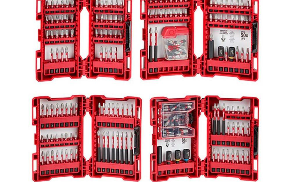 Milwaukee Shockwave 205-piece alloy steel drill and driver bit set for $60