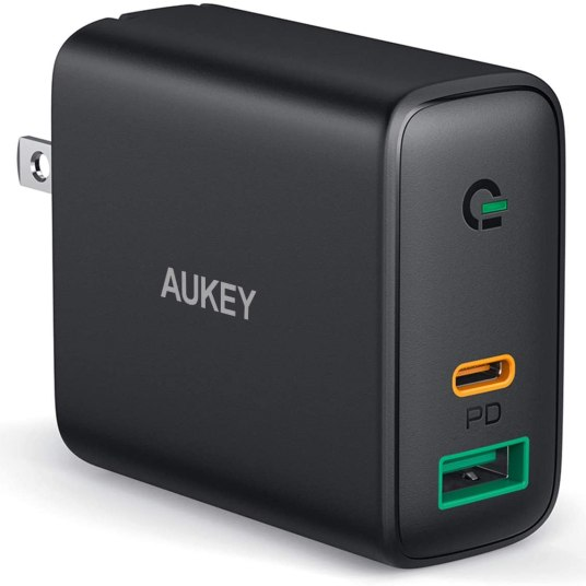 Prime members: Aukey USB C and USB A fast wall charger for $13