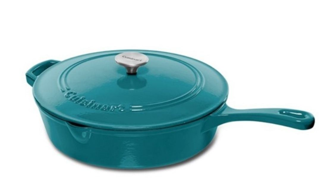 Today only: Cuisinart 7-quart oval casserole cast iron or chicken fryer for $60