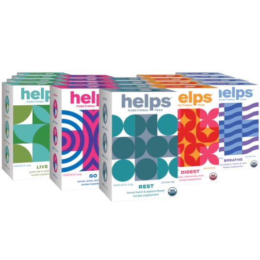 128-pack of HELPS organic functional herbal teas for $23 shipped