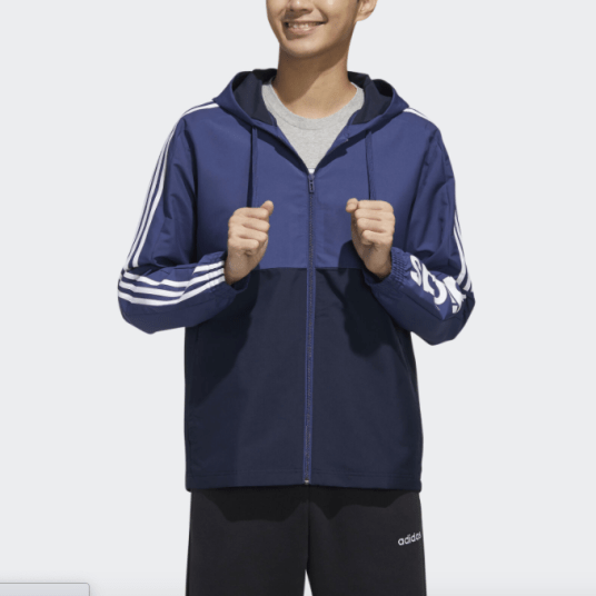 Adidas Essentials Colorblock windbreaker for $26, free shipping