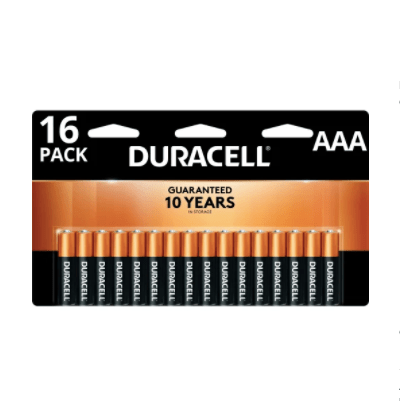 16-pack or 24-pack Duracell Coppertop AAA or AA batteries for FREE after rewards