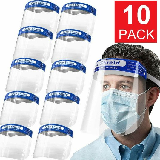 10-pack full face shield protection covers for $13, free shipping