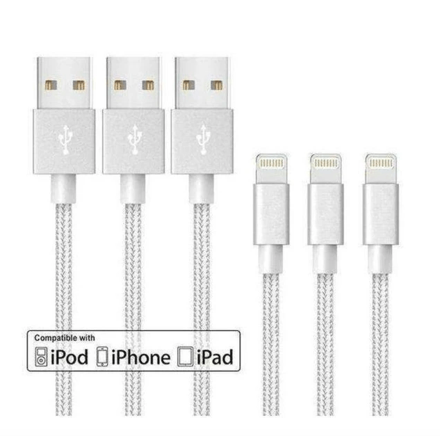 6-pack Apple MFi 10-foot cables for $3 each, free shipping