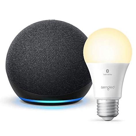 Amazon Echo Dot 4th gen smart speaker + Sengled Bluetooth bulb for $29